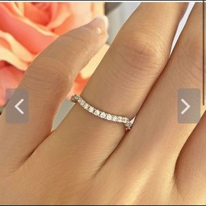 Pave Contour Diamond Stimulant Wedding Band Ring